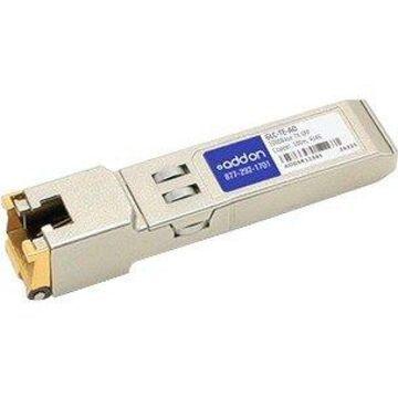 AddOn Cisco GLC-TE Compatible TAA Compliant 1000Base-TX SFP Transceiver (Copper, 100m, RJ-45) - 100% compatible and guaranteed to work
