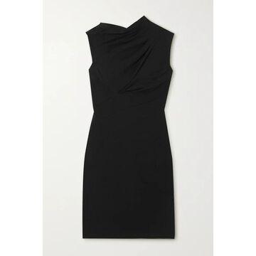 RtA - Holly Cutout Twisted Cotton-jersey Mini Dress - Black