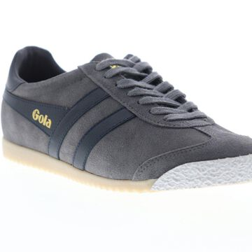 Gola Harrier 50 Suede Mens Gray Suede Lace Up Low Top Sneakers Shoes