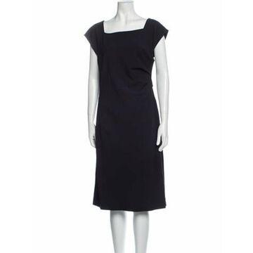Square Neckline Midi Length Dress w/ Tags Blue