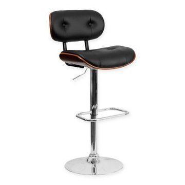 Flash Furniture Beech Bar Stool in Black/Walnut