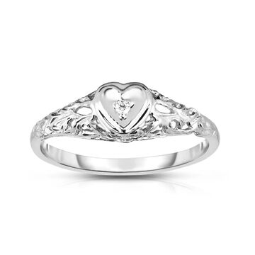 Noray Designs 14k Gold Diamond Accent Heart Ring