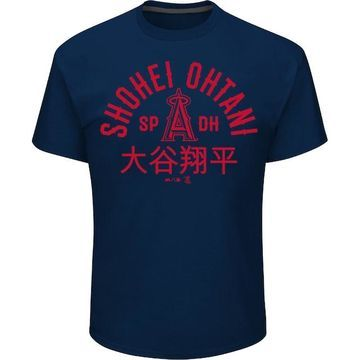 Men's Majestic Los Angeles Angels of Anaheim Shohei Ohtani Heritage Tee