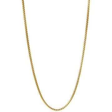 Pori Jewelers 18kt Gold-Plated Sterling Silver 1.8mm Round Box Chain Men's Necklace, 30