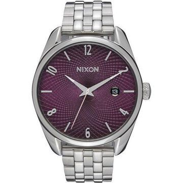 Nixon A418-2157 Bullet Womens Silver Stainless Steel With Purple Dial Watch NWT