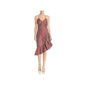 Keepsake Womens Love Light Cocktail Dress Polka Dot Ruffled