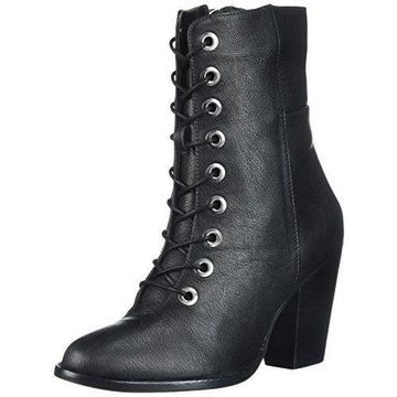 MIA Women's Fontana Ankle Bootie, Black, 6 M US