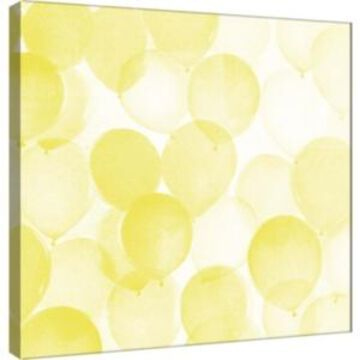 Ptm Images, Airy Balloons In Yellow A Decorative Canvas Wall Art