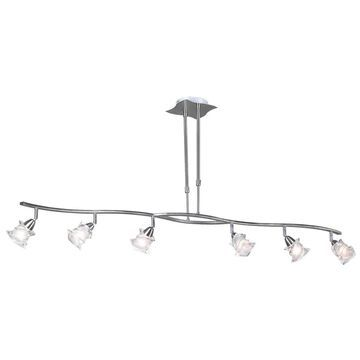 PLC Lighting Satin Nickel Modern/Contemporary Frosted Glass Bowl Large (Larger Than 22-in) Pendant Light   6073 SN