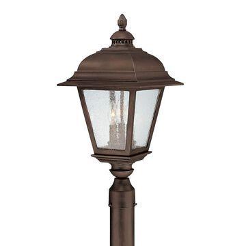 Brookwood 3-light Burnished Bronze Outdoor Post Lantern