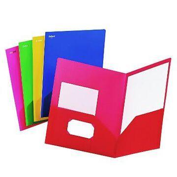 Oxford Fashion PolyPort Twin-Pocket Portfolio, Polypropylene - Multi-Colored (25 Per Box)