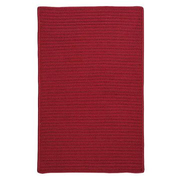 Colonial Mills Simply Home Solid Indoor Outdoor Rug, Red, 7X9 Ft
