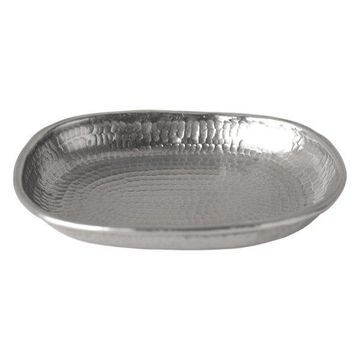 Hammered Copper Soap Dish, Brushed Nickel