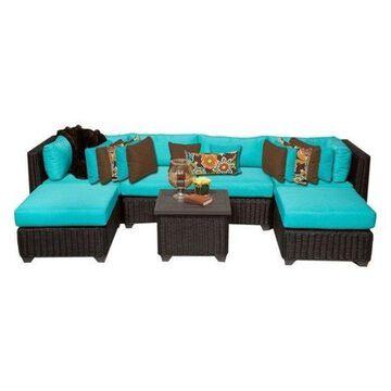 TK Classics Venice 7-Piece Outdoor Wicker Sofa Set, Aruba