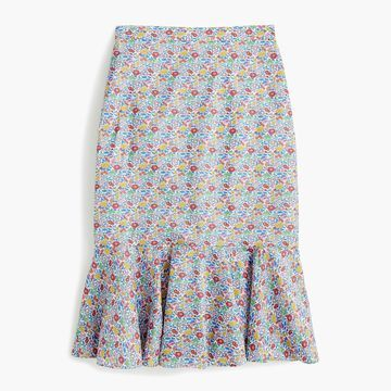 Trumpet skirt in Liberty& Favourite Flowers