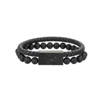 "Peanuts Stainless Steel Snoopy Men's Bracelet, 8.5"""