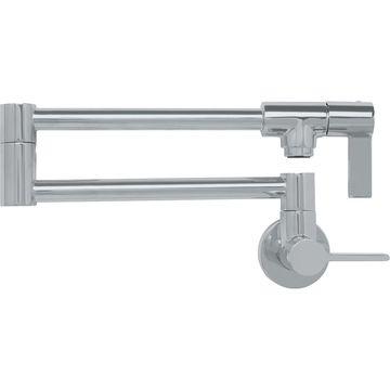 Franke Ambient Satin Nickel 2-Handle Wall Mount Pot Filler Kitchen Faucet