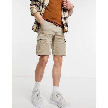 Jack & Jones Intelligence cargo shorts in beige-Neutral