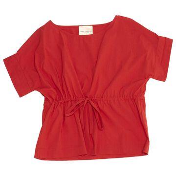 Erika Cavallini Red Cotton Tops