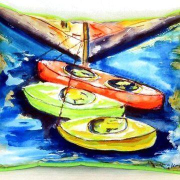Kayaks Small Indoor/Outdoor Pillow, 11