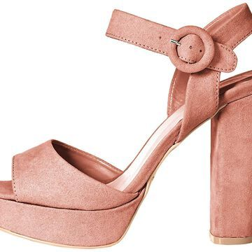 Qupid Womens Iconic-01 Open Toe Special Occasion Slingback