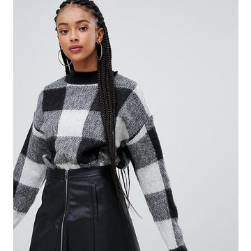 Bershka brushed check sweater