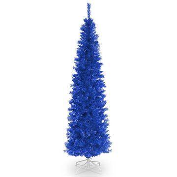 National Tree Company 6-ft. Tinsel Artificial Christmas Tree Floor Decor, Blue