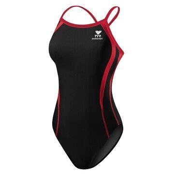 TYR Girls' Alliance Team Durafast Splice Diamondback Tank Swimsuit