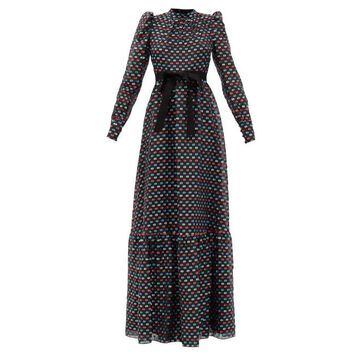 Erdem - Claudina Puffed-sleeve Fil-coupe Gown - Womens - Multi
