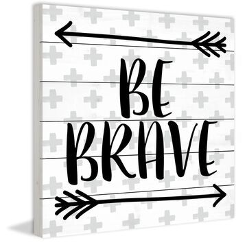 Marmont Hill - Handmade Brave Arrows Painting Print on White Wood