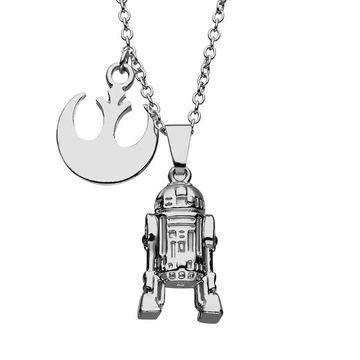 Star Wars R2-D2 Rebel Pendant Necklace
