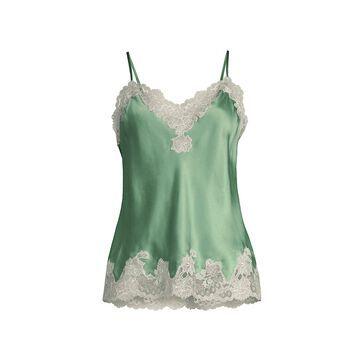 Natori Lolita Lace-Trim Silk Camisole