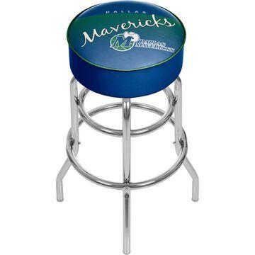Trademark Gameroom Dallas Mavericks Bar Stools Chrome Bar height (27-in to 35-in) Upholstered Swivel Bar Stool | NBA1000HC-DM