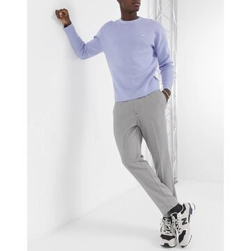 New Look dress pants in gray puppytooth check-Grey