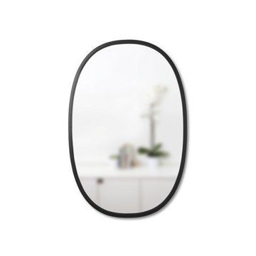 Umbra Hub Oval Mirror by Umbra - Wall Mirror for Entryways, Washrooms, Living Room and More, Black