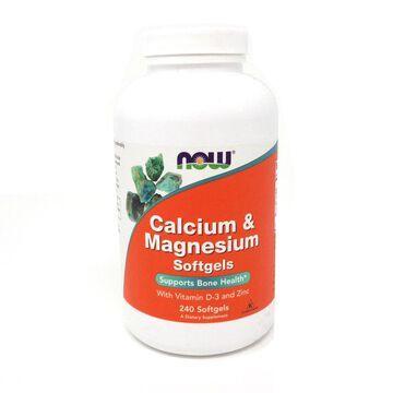 Calcium & Magnesium by Now Foods 240 Softgels