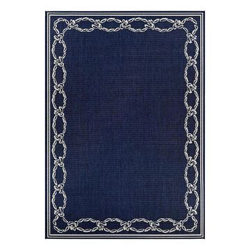 Couristan Recife Rope Knot Framed Indoor Outdoor Rug, Natural, 7.5X11 Ft