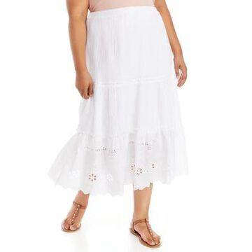 Rafaella Women's Plus Size Mixed Maxi Skirt - -