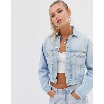 Pepe Jeans Iris retro fit denim jacket-Blue
