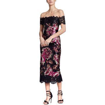 Marchesa Notte Womens Sheath Dress