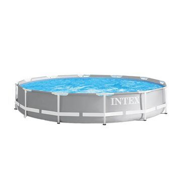 Intex 12-ft x 12-ft x 30-in Rectangle Above-Ground Pool | 105894