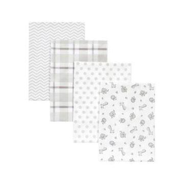 Trend Lab Chevron Safari Receiving Blanket 4-Pack Bedding
