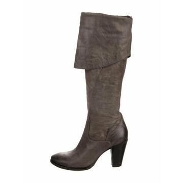 Leather Boots Grey