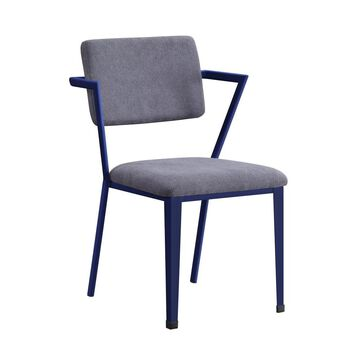 ACME FURNITURE Cargo Industrial Gray Fabric and Blue Accent Chair   37908
