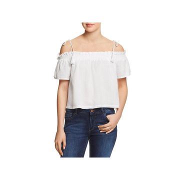 DL1961 Womens Blouse Woven Off-The-Shoulder