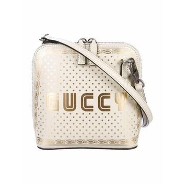 Guccy Sega Crossbody Bag Silver