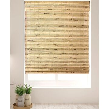 """Arlo Blinds Petite Rustique Bamboo Roman Shades with 60 Inch Height (28.5""""W x 60""""H)"""