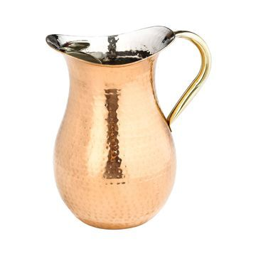 Old Dutch International Decor Hammered Copper Water Pitcher