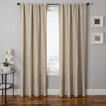 Softline 1-Panel Azure Stripe Window Curtain