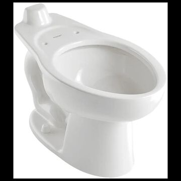 American Standard 3453.001 Madera Elongated Toilet Bowl Only With Rear Spud - Less Seat and Flushometer White Fixture Toilet Bowl Only